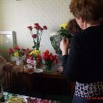 Охапки цветов