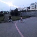 Велосипедисты вечернего ебурга
