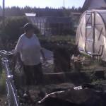А бабушку заботит только огород